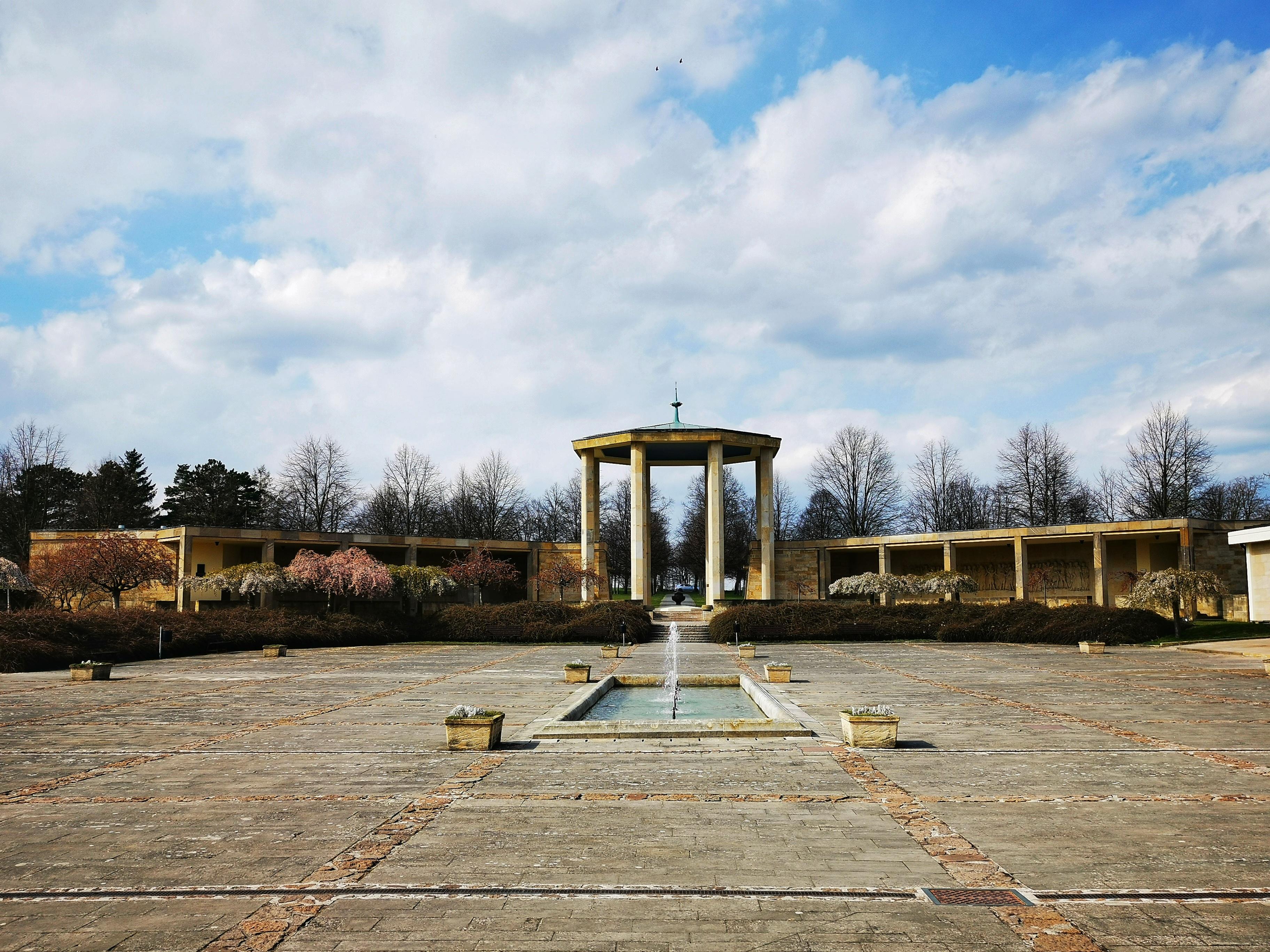 Gloriet at Lidice Memorial, designed by František Marek.
