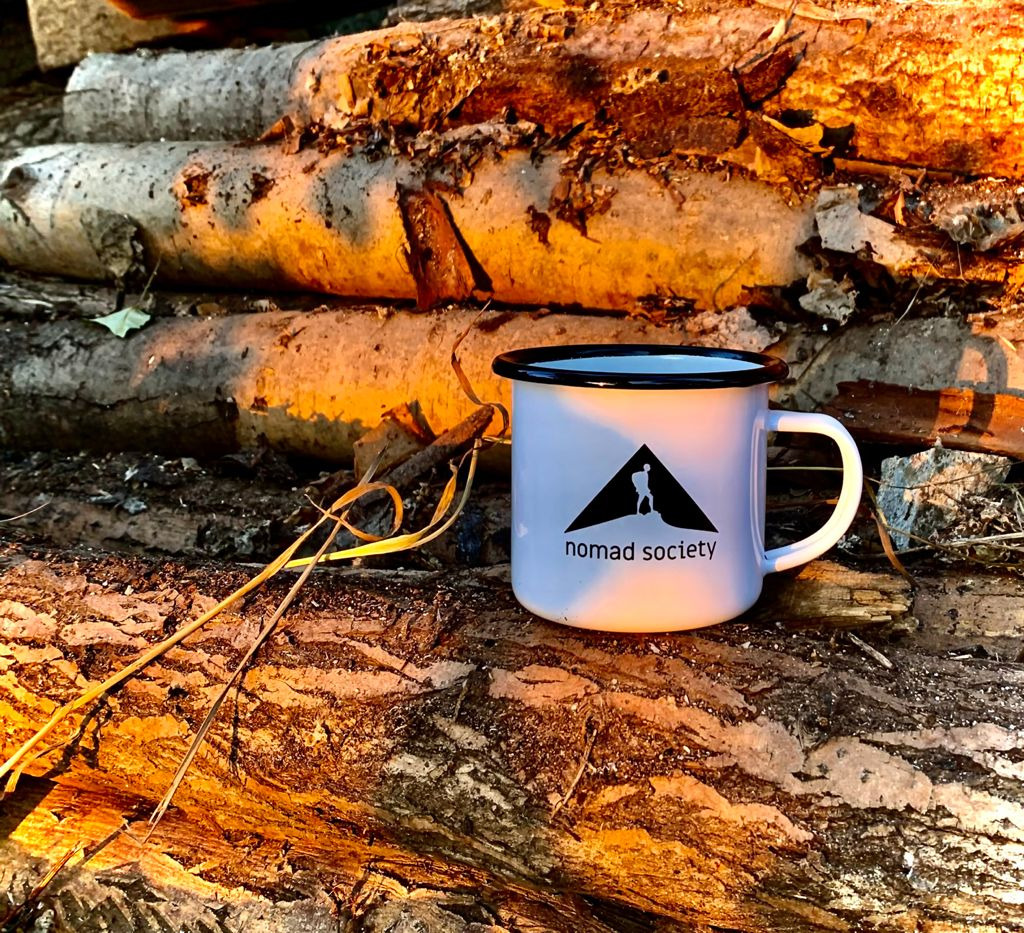Nomad Society Mug is light and almost unbreakable.