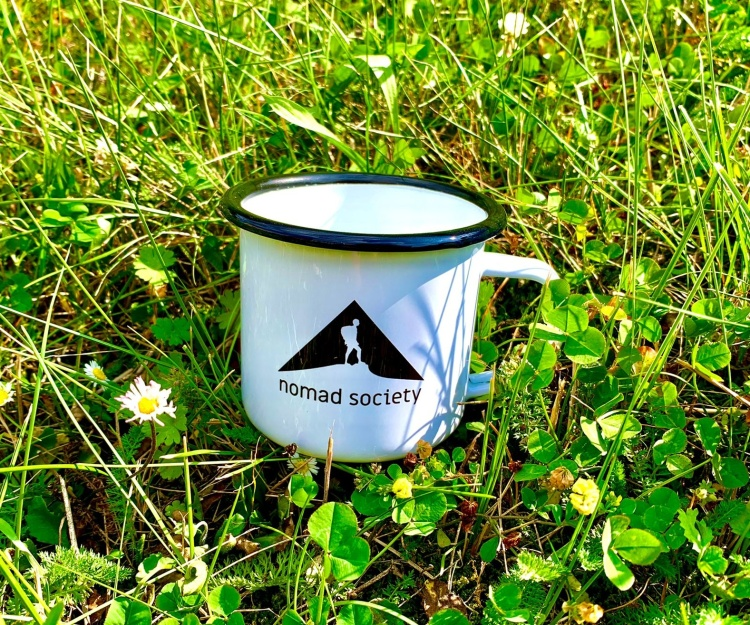 Nomad Society Mug is a great pick for any backpacking and camping adventure, hiking or canoeing trip or just everyday use in the office.