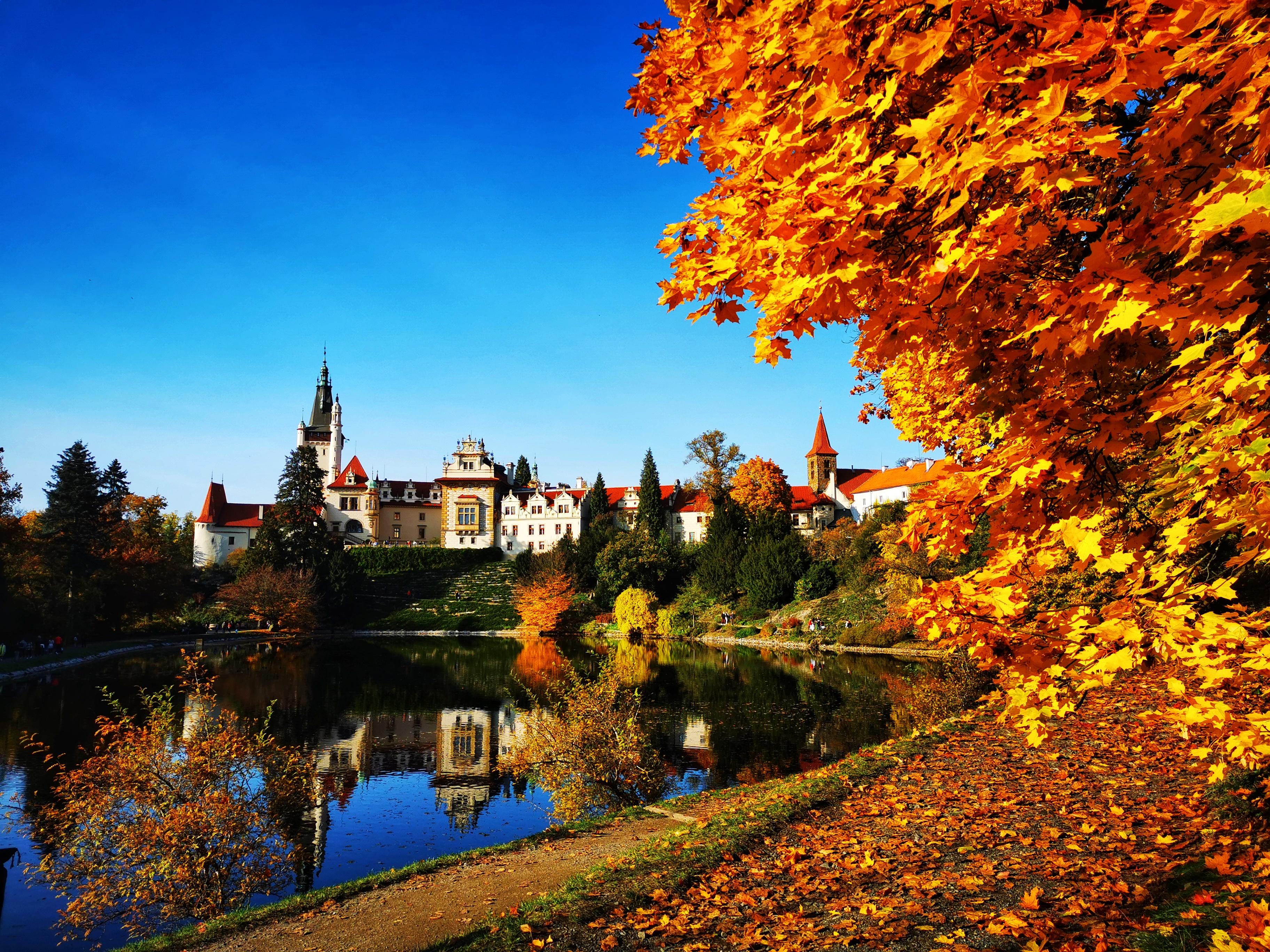 The Průhonice Park along with Průhonice Castle are a Czech National Historic Landmark and a UNESCO World Heritage site.