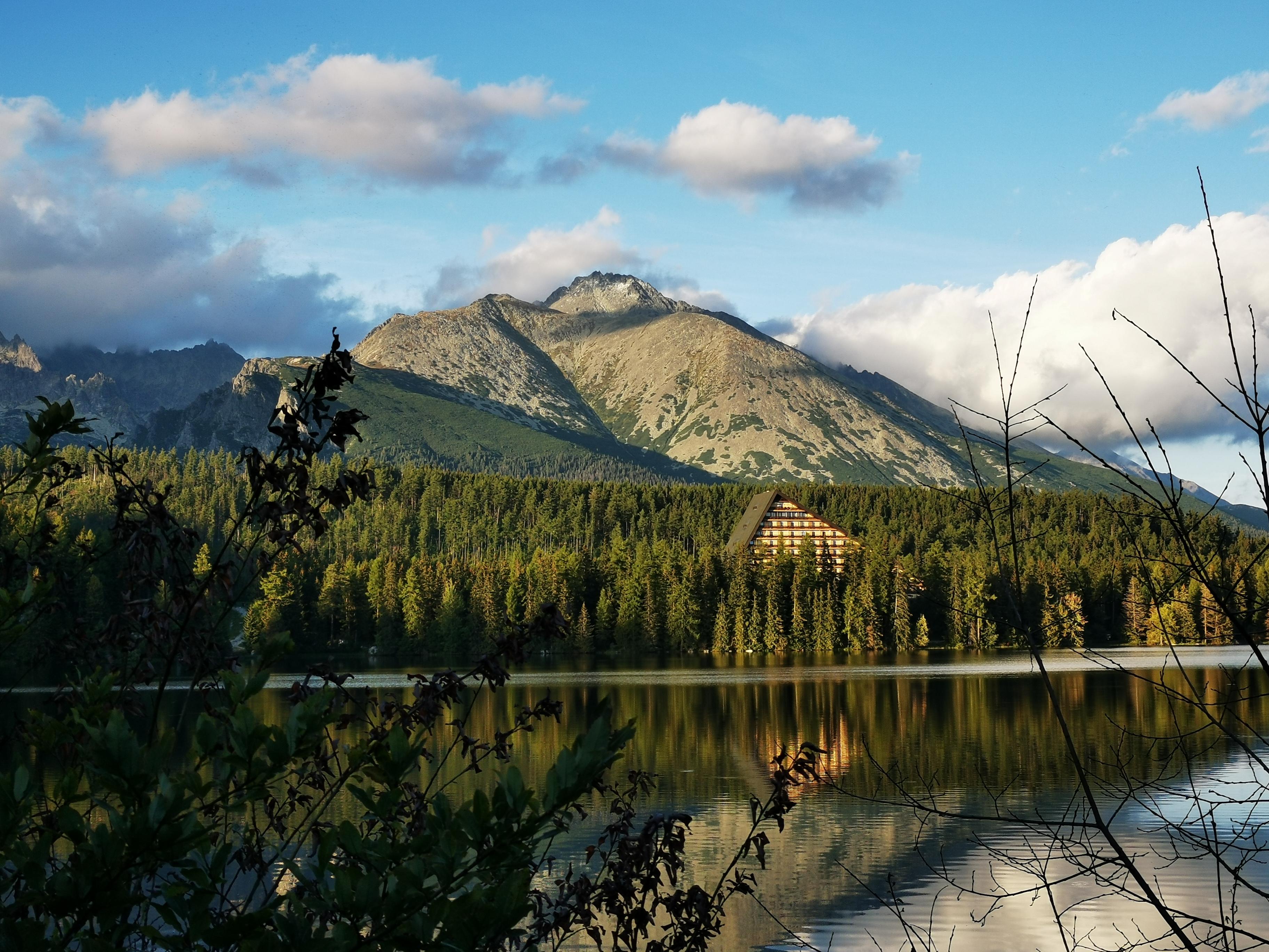 Štrbské pleso is a mountain lake of glacial origin and a top tourist destination in the High Tatras.