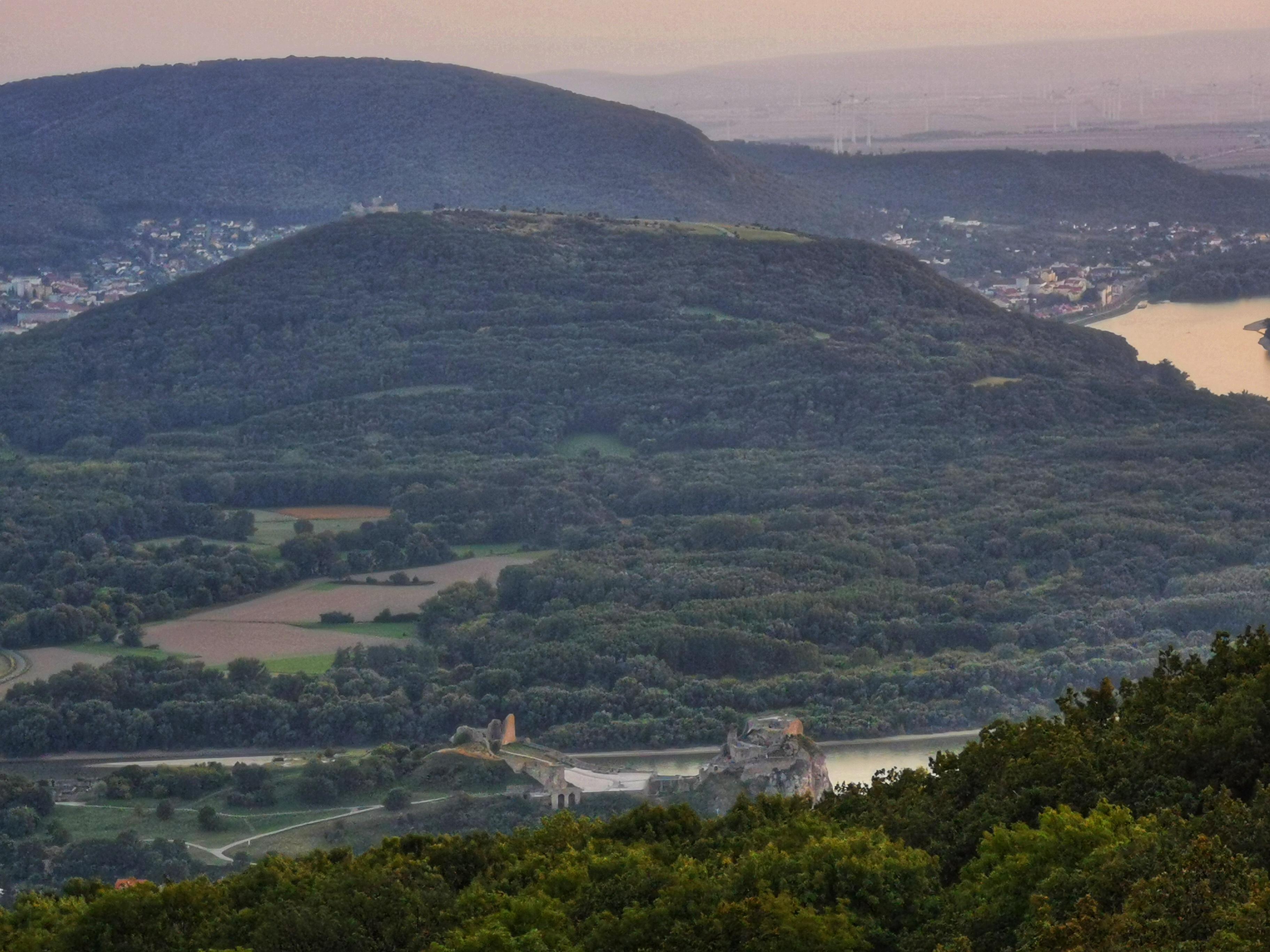 Devín as seen from Devínska Kobyla lookout tower.