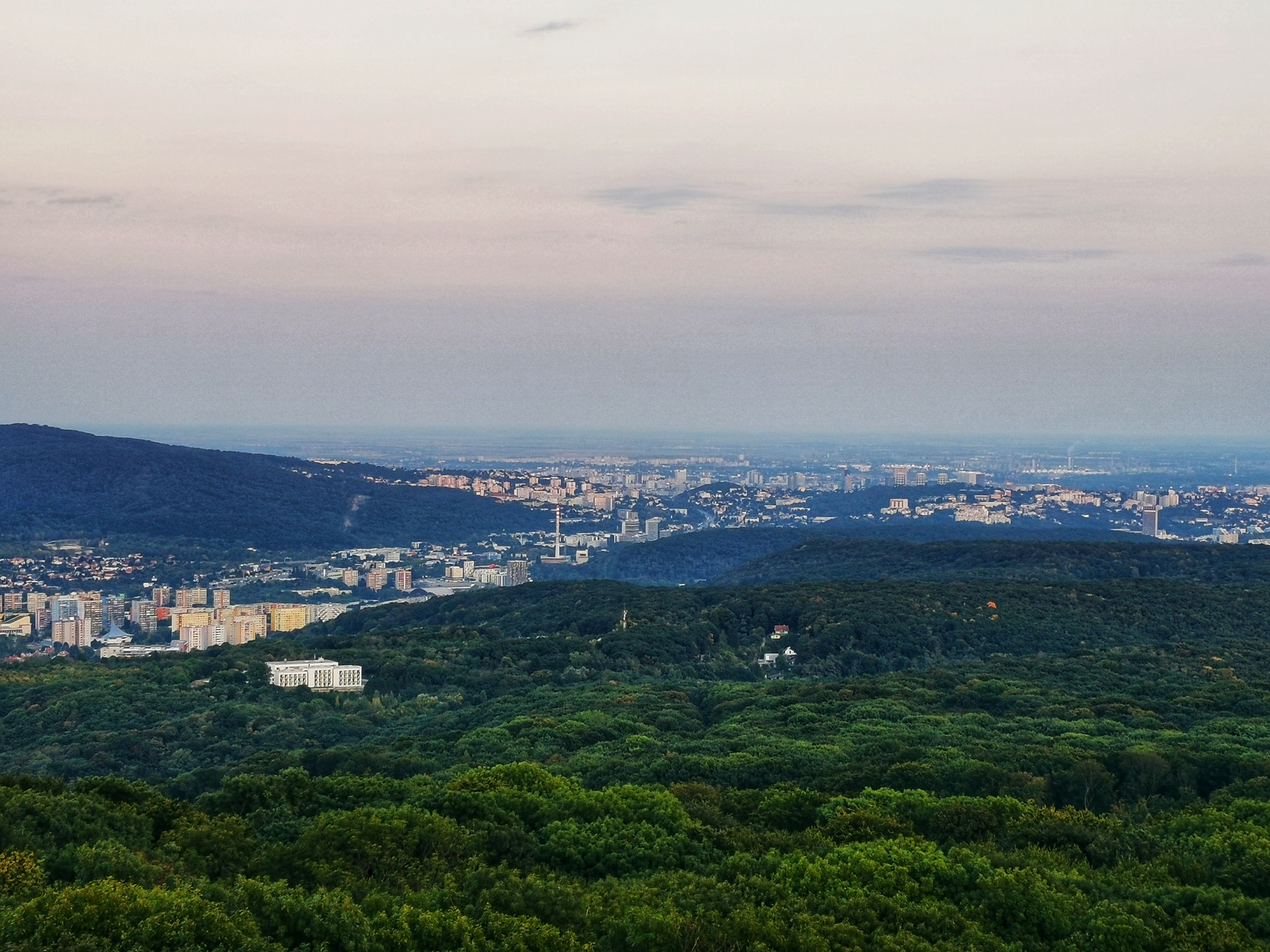 Bratislava as seen from Devínska Kobyla lookout tower.